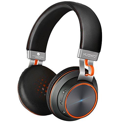 NUBWO S2 V4.1 Auriculares Estéreo de Alta Fidelidad Inalámbrico con Bluetooth en Orejas con Micrófono para Teléfonos Inteligentes, Tabletas, Ordenadores Portátiles & PC