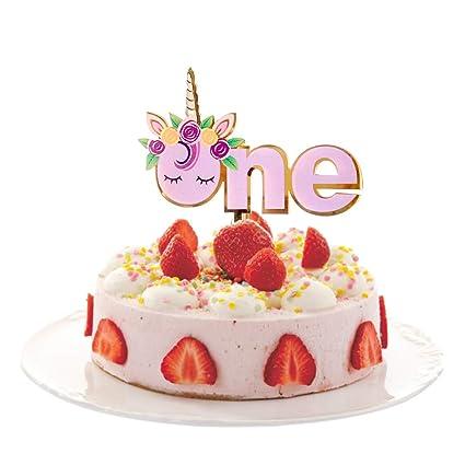 Amazon Unicorn Acrylic Baby Cake Topper For 1st Birthday