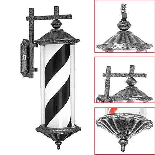 Barbers Pole Light Beauty Salon Rotating Sign Light Barber Shop Wall Mount LED Light Black White Waterproof Palace Light 110/220v,1
