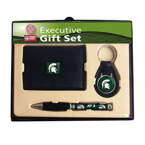 Michigan State Spartans Trifold Wallet Keychain and Pen Set