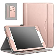 iPad Mini 3 / 2 / 1 Case - MoKo Slim Folding Stand Folio Cover Case for Apple iPad Mini 1 / Mini 2 / Mini 3, with Auto Wake / Sleep and Document Card Slots, Multiple Viewing Angles, Rose GOLD
