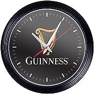 Trademark Gameroom Guinness 15 Inch Retro Style Wall Clock - Harp