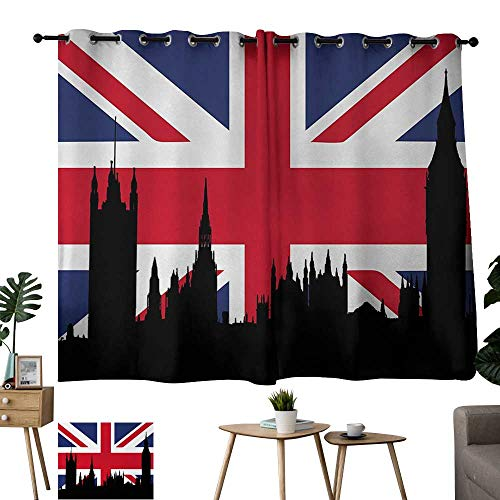 WinfreyDecor Living Room Curtains Union Jack,Houses, used for sale  Delivered anywhere in USA