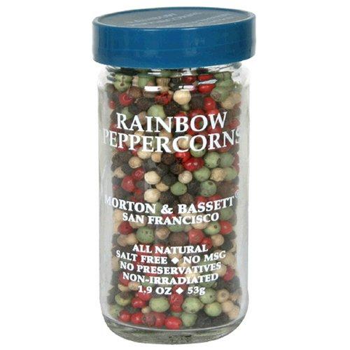 Morton & Bassett Rainbow Peppercorns, 1.9-Ounce Jars (Pack of 3)
