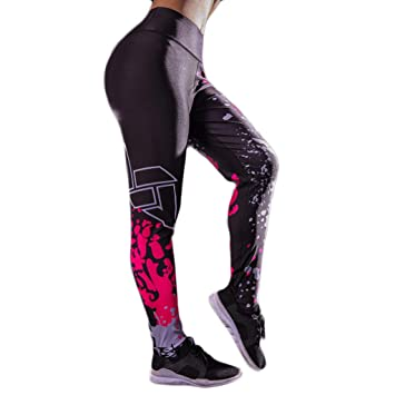 Baiomawzh Pantalones Yoga Mujeres con Estampado Leggings ...