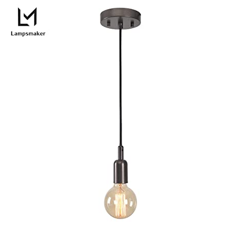 Lampsmaker E26 Light Socket Vintage Ceiling Hanging Light Fixtures ...