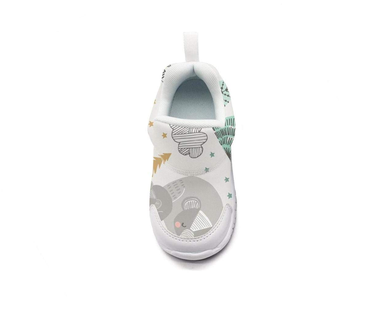 ONEYUAN Children Cute Sleepy Fox Bears Owls Kid Casual Lightweight Sport Shoes Sneakers Walking Athletic Shoes