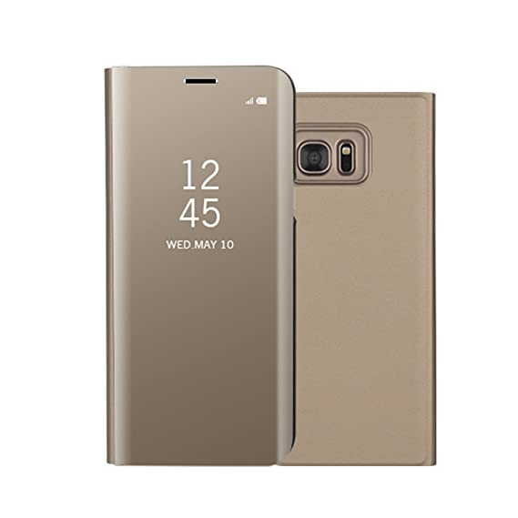super popular 3e197 5f801 Galaxy Note 5 Case,Shinetop Luxury Smart Clear View Stand Flip Folio Cover  Electroplate Plating PC Mirror Case Ultra Slim Thin 360 Degree Full Body ...