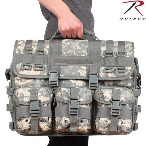 (MWS Green ACU Digital Camo MOLLE Tactical Military Laptop Briefcase Shoulder Bag)