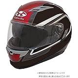 オージーケーカブト(OGK KABUTO)バイクヘルメット フルフェイス KAMUI2 CLEGANT (クレガント) フラットブラックレッド (サイズ:M)
