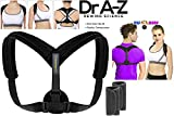 Dr A-Z Back Brace Chest Strap Posture Corrector for Women Men Kids Chest Brace Support Upper Back Clavicle Adjustable Shoulder Lumbar Kyphosis Thoracic Invisible Bundle Free Size Pads + Medical Card