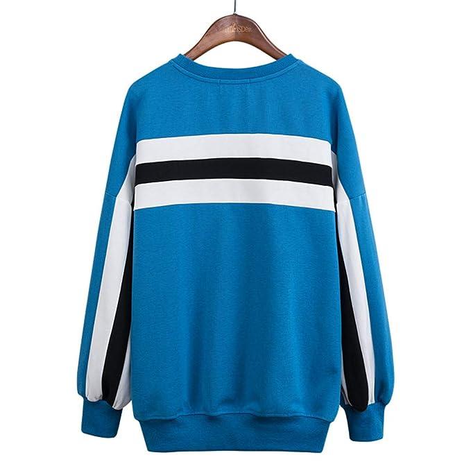 SDF Manual Sweatshirt Sudaderas con Capucha 2018 otoño Europa y los Estados Unidos Deportes Viento Suelta versión Grande de la sutura de Rayas suéter de ...