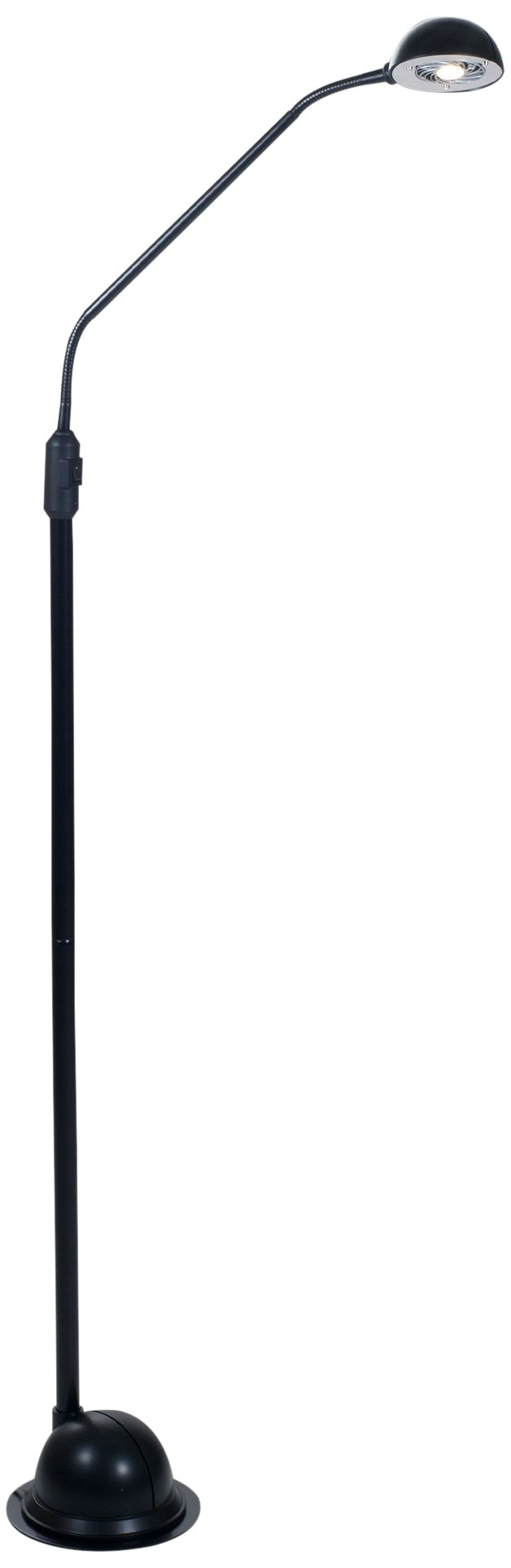 "Lavish Home 72-KD010F-B Modern High Power LED Floor Lamp, 61"" x 7"" x 7"", Black - Eco-Friendly, Energy Saving LED Lighting, Adjustable Neck, Easily Fits into Any Decor 9 LED Bulbs, Some Assembly Required, Plug Type: 2 Prong 73 inch Power Cord - living-room-decor, living-room, floor-lamps - 51QHU46uj3L -"