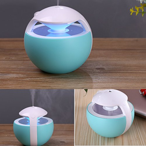 Nanum Colorful Elves Cool Mist Humidifier 450ml Ultrasonic Adjustable Mist Mode Waterless Auto Shut-off and 7 Colors Changing for Office Bedroom Baby (Blue) by Nanum (Image #4)