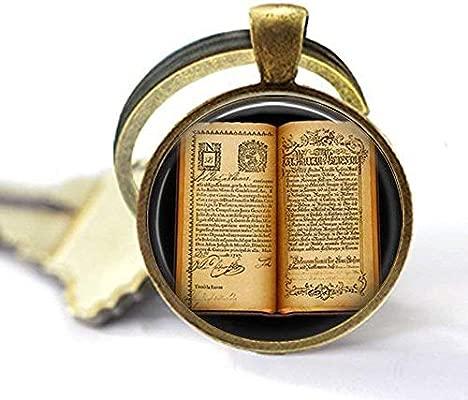 Llavero de libro abierto antiguo, llavero de regalo para escritor, regalo para lector – joyería de libro vintage – llavero de páginas de libro – la ...
