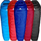 Hyke & Byke Shavano 32 Degree F 650 Fill Power Hydrophobic Down Sleeping Bag with Allied LofTech Base - Ultra Lightweight Men's and Women's Mummy Bag Designed for Summer Backpacking