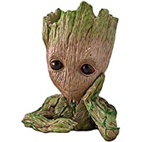 Zesta Guardians of The Galaxy Flower Pot / Groot Pen Stand / Innocent Baby Look Groot Action Figure / Toy (First Edition Patience) -GR0001