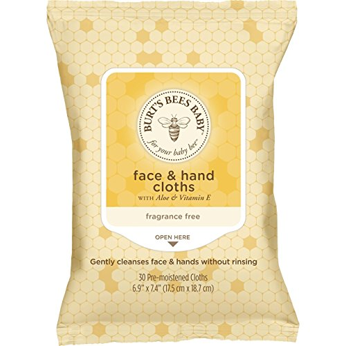 Price comparison product image Burt's Bees Baby Face & Hand Cloths,  Unscented Cleansing Wipes - 30 Wipes