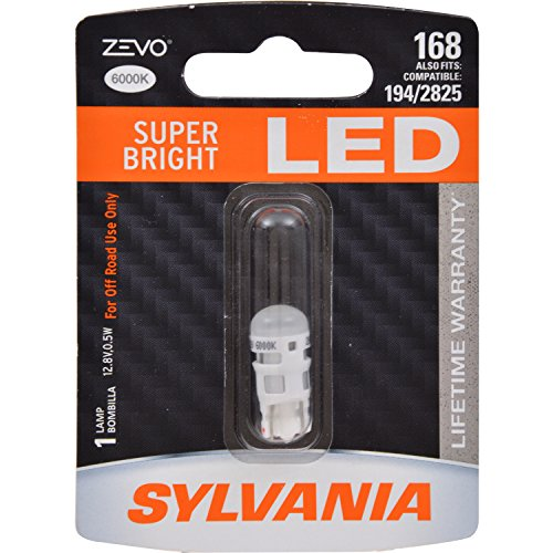 SYLVANIA ZEVO 168 T10 W5W White LED Bulb, (Contains 1 Bulb)