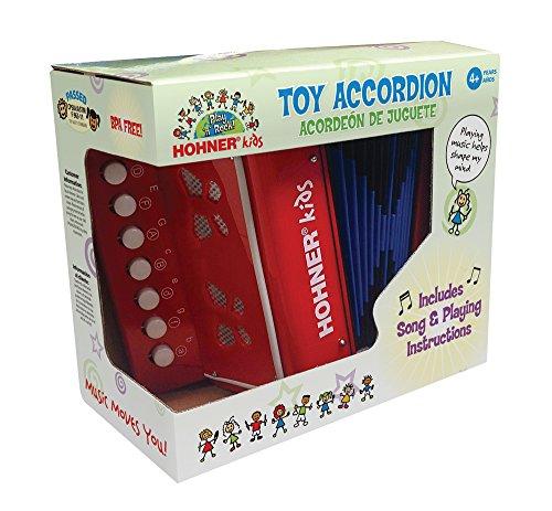 51QHUjA0p8L - Hohner Kids UC102R Musical Toy Accordion Effect