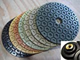 Super Grade Diamond Polishing Pads 4'' inch 14 Pce Set Granite Stone Concrete Marble