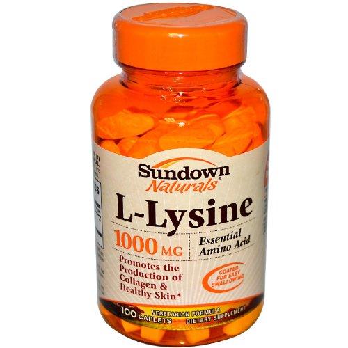 Sundown L Lysine, 1000 mg, 100 Tablets