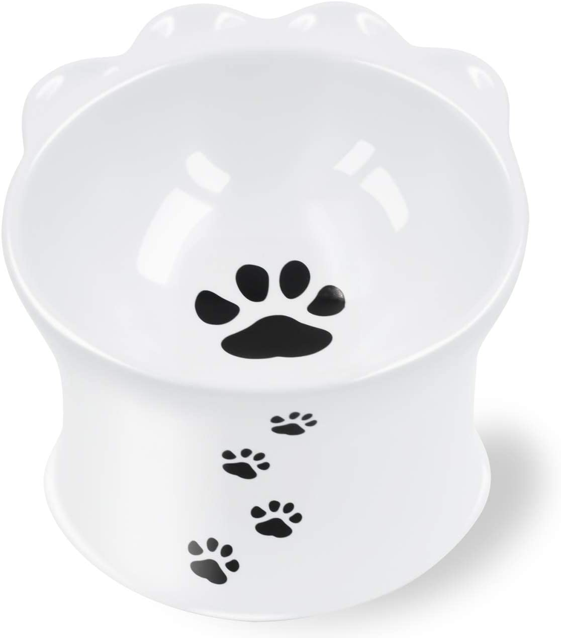 Frewinky Cat Bowl,Ceramic Cat Bowls Anti Vomiting,Raised Cat Food Bowl for Flat Cats and Small Dogs,Tilted Elevated Cat-Bowl Protect Pet's Spine,No Whisker Fatigue