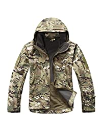 MAGCOMSEN Men's Tactical Army Outdoor Coat Camouflage Softshell Jacket Hunting Jacket