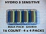 #9: Schick Hydro 5 Sensitive - 16 Count Bulk Pack (4 x 4 Packs)