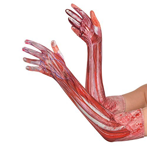 Blood & Muscle Long Gloves by Amscan
