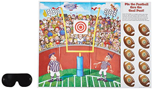 Pin The Football Game 10 Footballs and Mask Tailgate Game Day Fun (Games Like Pin The Tail On The Donkey)