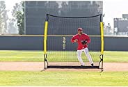 Easton PRO Baseball Softball Screen Net | 7 FT x 7 FT | 2020 | Great for Infield Outfield Training + Backyard