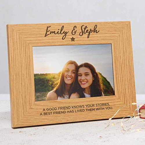 Personalized friends photo frame for women/Best friend gifts for women/friend quote photo frame gifts