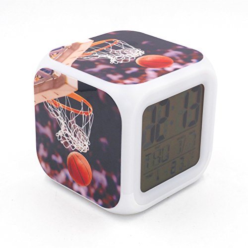 EGS New Basketball Shoot Layup Score Sports Digital Alarm Clock Desk Table Led Alarm Clock Creative Personalized Multifunctional Battery Alarm Clock Special Toy Gift for Unisex Kids Adults (Sport Digital Alarm Clock)