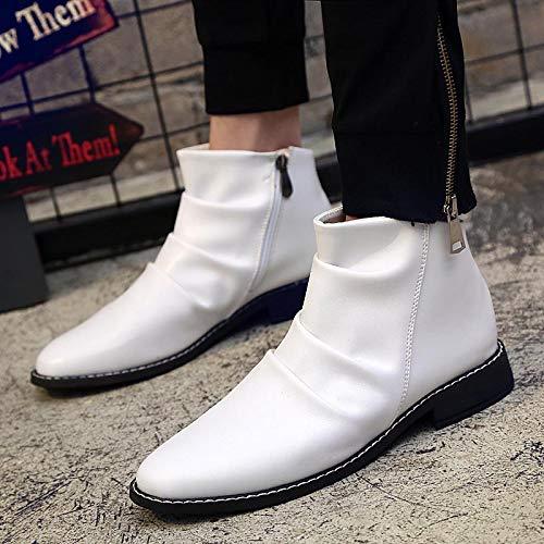di stivali casual uomini KMJBS Bang Martin britannico three bianco pelle forty Gao fashion stivali 80n0wfaq