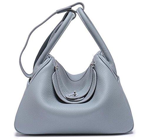 Dame Sac Blue sac Platine Psoriasis en Sacs de main forfait médecine à sac grain épaule cuir Médecin de 4IqfBA