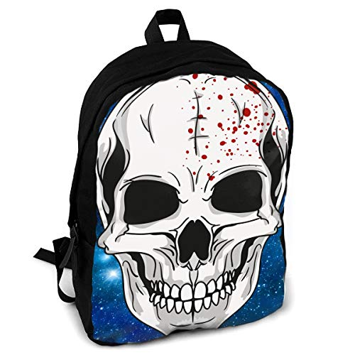 Halloween Mask Clipart Fashion Printing Adult Backpack Travel Hiking -