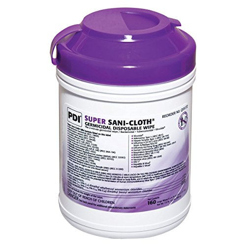 SANI-CLOTH SUPER INF-639 Germicidal Wipe, 55% Alcohol, Surface Cleaner, 6