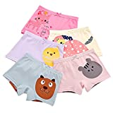 BOOPH Girls Panties, 5-Pack Colorful Animal Cat Chicken Girls Underwear Baby Toddler Briefs Boyshort for Little Girls 5T