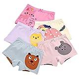 BOOPH Girls Panties, 5-Pack Colorful Animal Cat Chicken Girls Underwear Baby Toddler Briefs Boyshort for Little Girls 2T