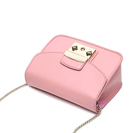 Amazon.com: LXYFMS Korean and Japanese Fashion Leather Lock Small Square Bag Ladies Handbag (Color : Blue): Home & Kitchen