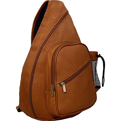 David King Leather Backpack Style Cross Body Bag in Tan