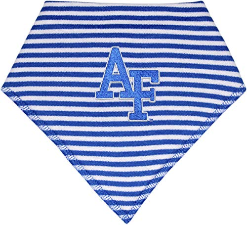 United States Air Force Academy Falcons Striped Baby Bandana Bib (United States Air Force Academy Colors Blue)