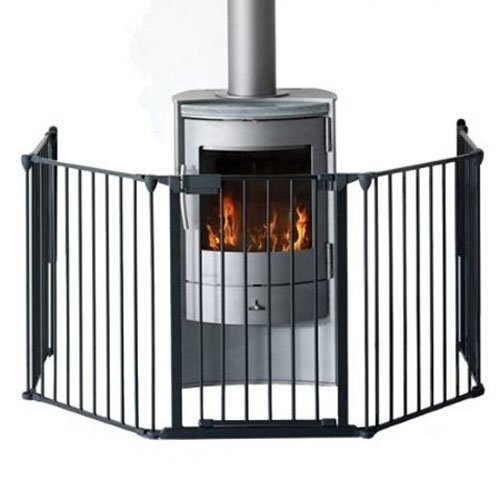 BabyDan Premium Hearth Gate Fire Guard (Black) 5616-2600-01-75