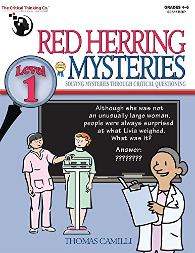 Red Herring Mysteries Level 1   Solving Mysteries Through Critical Questioning  Grades 4 6
