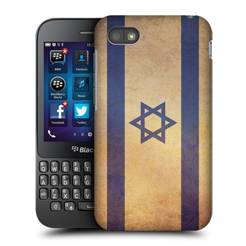 Head Case Designs Israel Israeli Vintage Flags Protective Snap-on Hard Back Case Cover for BlackBerry Q5