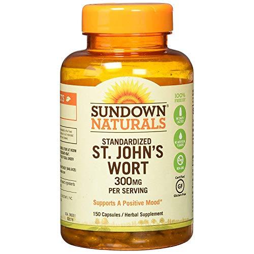 Sundown Naturals Standardized St. John's Wort Capsules 150 ea (Pack of 2)