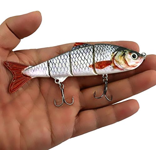 USHOT New Minnow Fishing Lures Crank Bait Hooks Bass Crankbaits Tackle Sinking Popper AS Show One Size