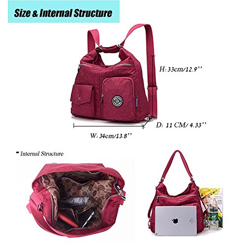 Messenger for Bag Travel Bag Body Nylon Sport Cross Beige Bag Satchel Backpack Side Crossbody Shoulder Casual Outreo Handbag Women Girls gxwSPS