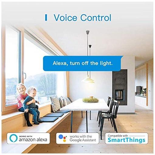 Enchufe Inteligente, Mide el Consumo 16A 3680W Wi-Fi Smart Plug, con Control Remoto Meross App. Compatible con Alexa, Google Assistant y SmartThings. Paquete de 4.MSS310